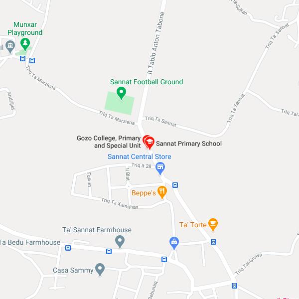 CRPD Gozo map showing location of CRPD Gozo office