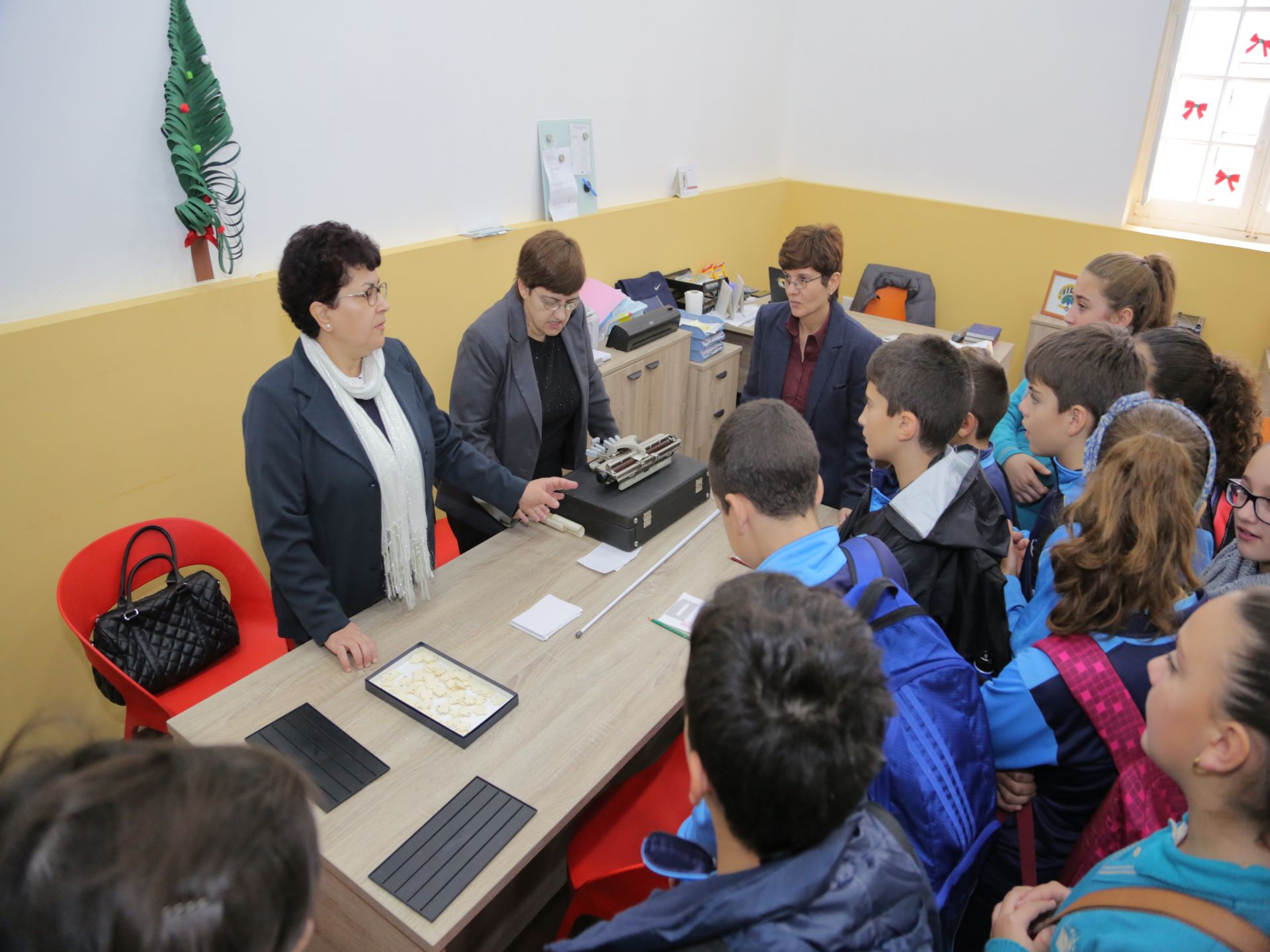 Group of children in a school during a lesson