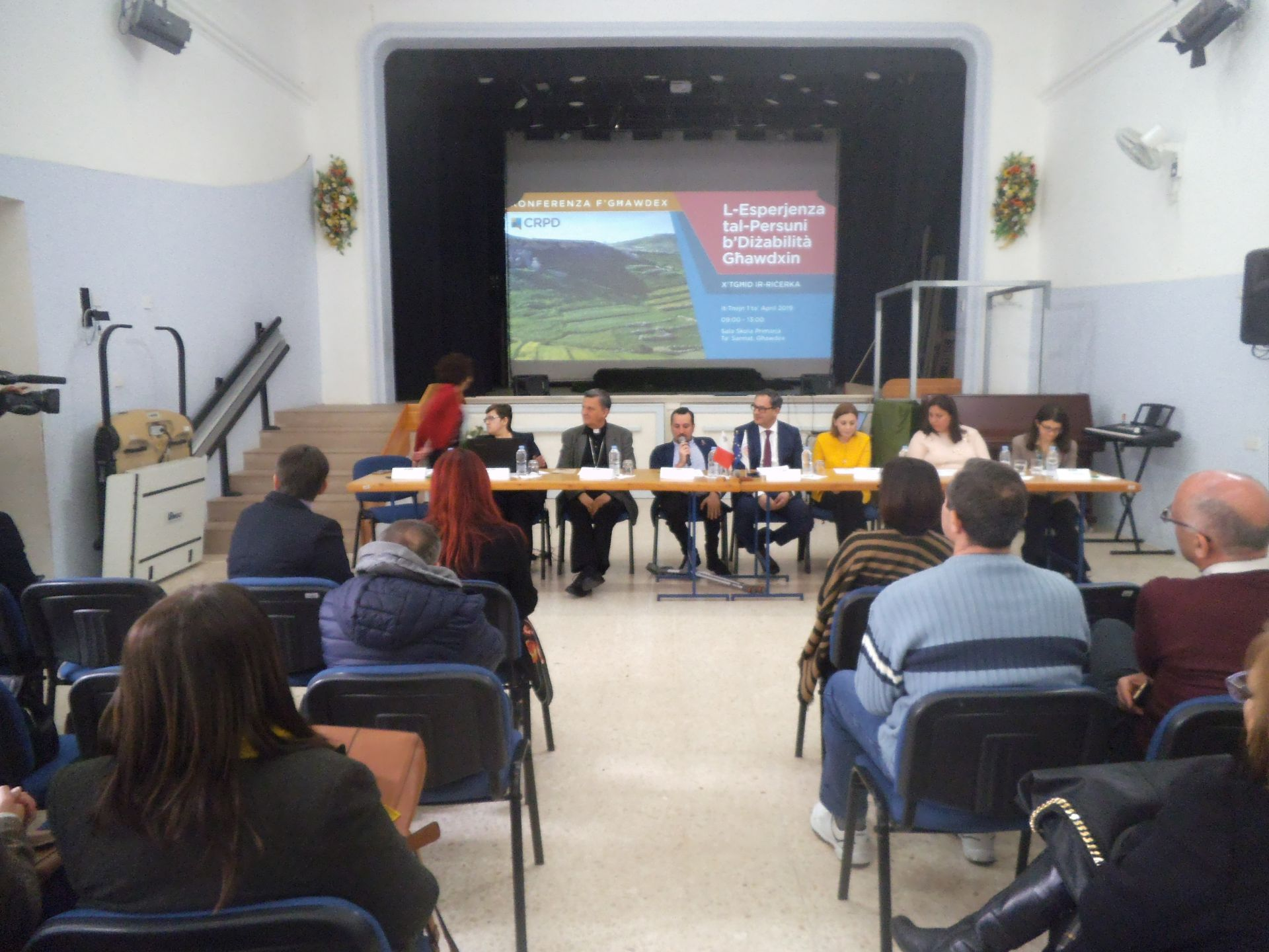 Photo of a conference held in Gozo by CRPD Gozo office