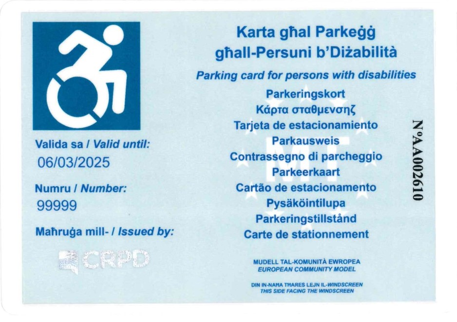 Image of blue badge (front)