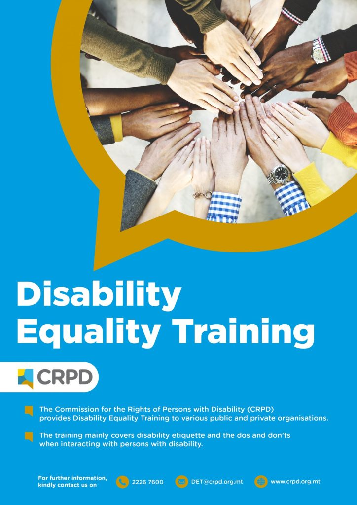 Disability Equality Training Poster - Photo of hands