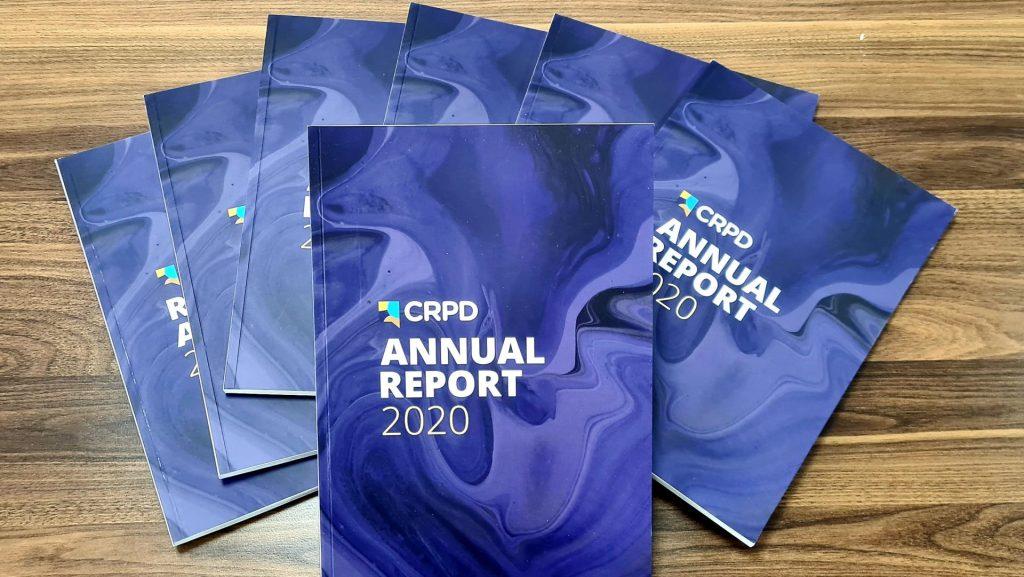 Photo of books (CRPD Annual Reports 2020)